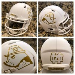 Notre Dame Fighting Irish Matte White Custom Riddell Revo Sp