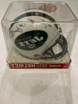ny jets mini helmet Autographed To Scott By Freeman McNeil/n