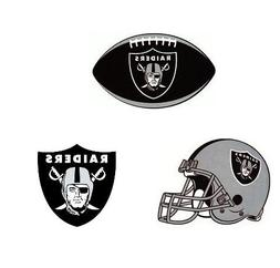 Oakalnd Raiders Combo Set of 4 ~ Pennants and Stickers ~ 4""