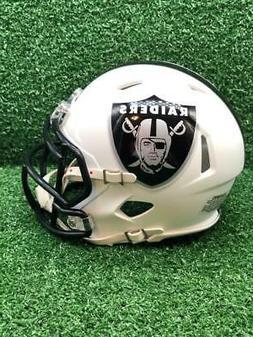 Oakland Raiders Riddell Speed CUSTOM Concept Matte White Min