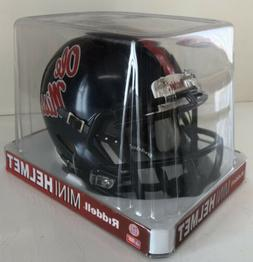 ole miss college speed mini football helmet