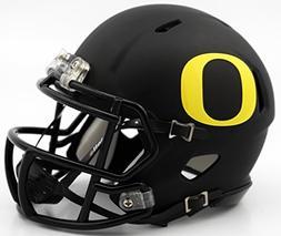 Oregon Ducks Matte Black Revolution Speed Mini Football Helm