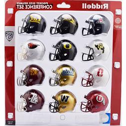 Riddell NCAA Pocket Pro Helmets, PAC 12 Conference Set,  New