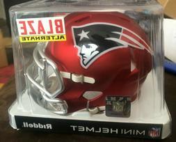 Patriots Blaze Alternate NFL mini helmet HTF new in box Ridd