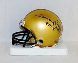 Pete Dawkins Autographed Army Black Knights Mini Helmet W/H-