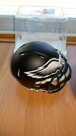 PHILADELPHIA EAGLES matte flat black Riddell mini helmet new