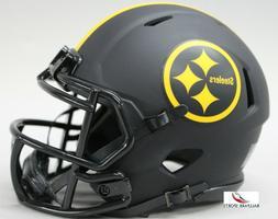 PITTSBURGH STEELERS - Black Eclipse Riddell Speed Mini Helme