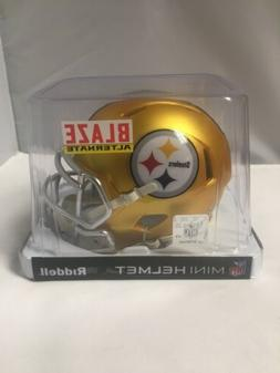 Pittsburgh Steelers Blaze Mini Helmet Riddell New In Box