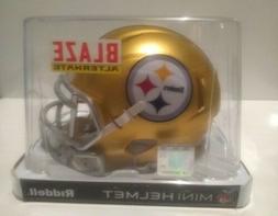 PITTSBURGH STEELERS BLAZE Speed Mini Helmet Riddell NFL, NEW