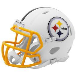 Pittsburgh Steelers White Matte Speed Mini Helmet New In Box
