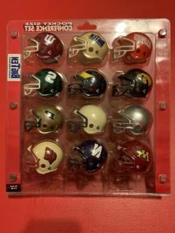 Riddell Pocket Size BIG TEN 10 X College Football Helmets NC