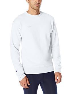 Champion Men's Powerblend Pullover Sweatshirt, White, Medium