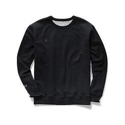 Champion Men's Powerblend Pullover Sweatshirt, Black, Large