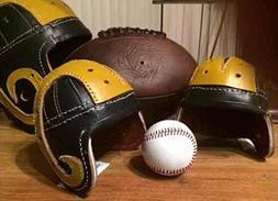 1940 Min Rams Crazy Legs Hirsch leather football helmet
