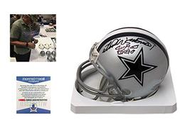 Randy White Signed Dallas Cowboys Mini Helmet w/ SB MVP - Be