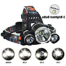 Brightest Outdoor Headlamp with Red Light,4 Modes Headlight
