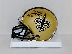 Ricky Williams Autographed New Orleans Saints Mini Helmet- J