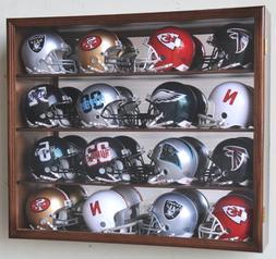 Riddell Mini Helmet Display Case Cabinet Wall Rack w/UV Prot