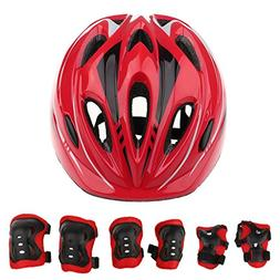 7 Pcs Kid Child Roller Skating Dirt Bike Helmets Kids Ages 3