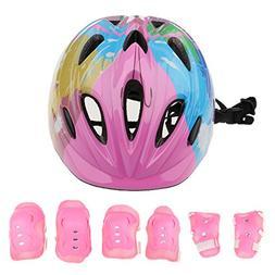 7 Pcs Kid Child Roller Skating Dirt Bike Helmets Kids Ages 3