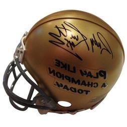 Rudy Ruettiger Autographed Notre Dame  Mini Helmet