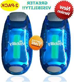 LED Safety Light 2-Pack | Clip On Strobe Flashing Running Li