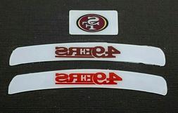 SAN FRANCISCO 49ers MINI HELMET DECAL SET
