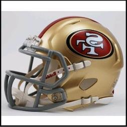 San Francisco 49ers mini replica speed helmet by Riddell