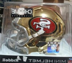 San Francisco 49ers Riddell Speed Mini Helmet - Chrome Alter