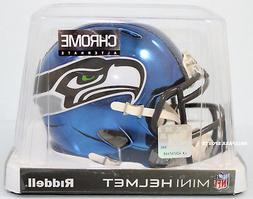 SEATTLE SEAHAWKS - Chrome Alternate Riddell Speed Mini Helme