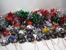 Set of 6 NFL Football Christmas Tree  Holiday Mini Plastic h