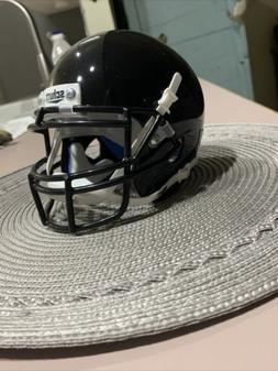 Shiny Black Blank Schutt Mini Football Helmet