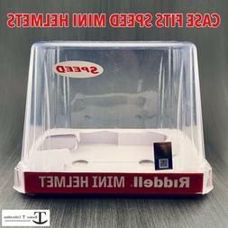 Riddell Speed NCAA Mini Helmet Retail Display Case Empty Con