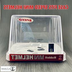 speed ncaa mini helmet retail display case