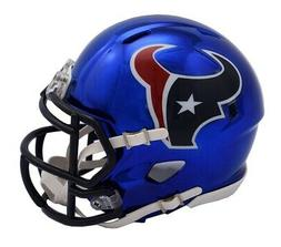 Riddell Speed NFL HOUSTON TEXANS Football Helmet Chrome Mini