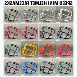 Riddell Speed S2BD Plastic Mini Helmet Facemask - Custom Rep