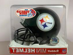 """Riddell Steelers Mini Helmet Quarterback NIB 6"""" x 5"""""""