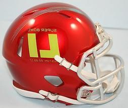 Riddell Super Bowl 51 Red Mini Speed Football Helmet