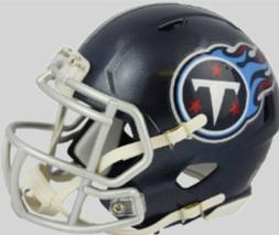 TENNESSEE TITANS NEW 2018 NFL MINI SPEED FOOTBALL HELMET