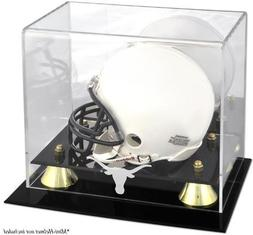 Texas Longhorns Golden Classic Logo Mini Helmet Display Case