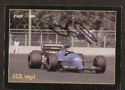 Thierry Bouten signed autographed F1 Pro Trac's Card
