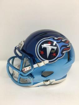 Titans custom two tone CHROME  riddell speed mini helmet