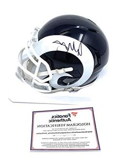 Todd Gurley Los Angeles Rams Signed Autograph Speed Mini Hel