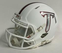 TROY UNIVERSITY TROJANS MATTE WHITE RIDDELL SPEED FOOTBALL M