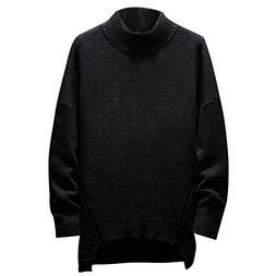 Realdo Men's Turtleneck Sweater, Mens Fashion Casual Solid L