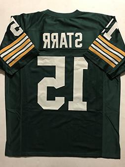 Unsigned Bart Starr Green Bay Green Custom Stitched Football