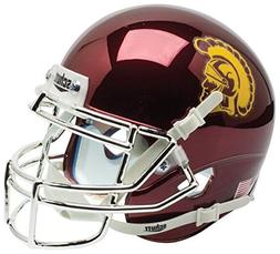 Schutt USC Trojans Collectible Alternate Chrome Mini Helmet