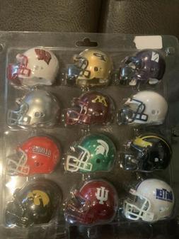 Vintage Riddell Big Ten Conference Mini-Helmet set in packag