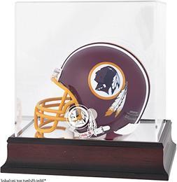 Washington Redskins Mahogany Mini Helmet Logo Display Case
