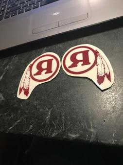 WASHINGTON REDSKINS THROWBACK MINI HELMET DECAL SET